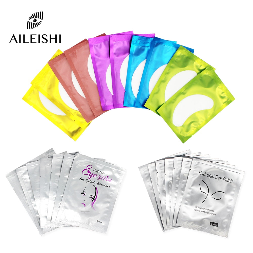 50/100 Pairs Eyelash Extension Paper Patches Lint Hydrating Lash Extension Pillow Sticker Under Eye Pads Eyelash Makeup Tools
