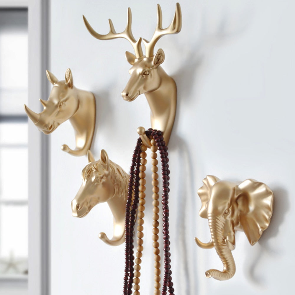 Wall Hanging Hook Deer Antlers Wall Coat Rack For Clothes Self Adhesive Display Racks Key Hanger Wall Storage Horns Hangers