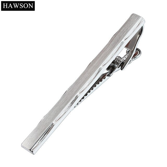 Fast Ship From USA Mens Irregular Brushed Tie Clip Set for Mens 3 Colors Option for Your Shirt Tie Bar Necktie Pin