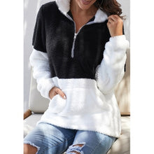 Load image into Gallery viewer, 2020 Winter Women's Coat Fashion Casual Stitching Plaid Ladies Clothes Hooded Zipper Ladies Coat Cashmere Women Jacket