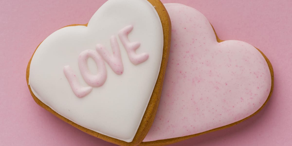 Love cookie for valentines day