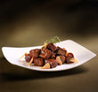 Tenderloin diced beef sliced garlic