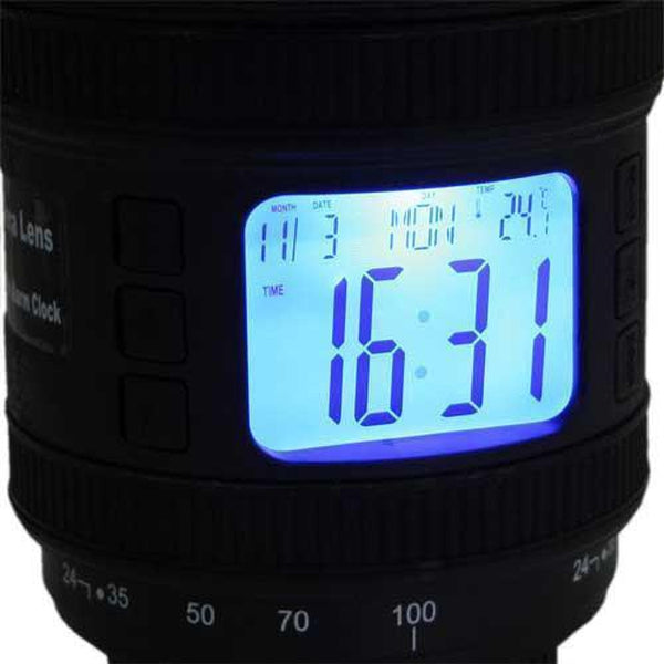 DSLR Camera Lens Projection Alarm Clock (Various Colors)-Alarm Clock-White-GeekyGet