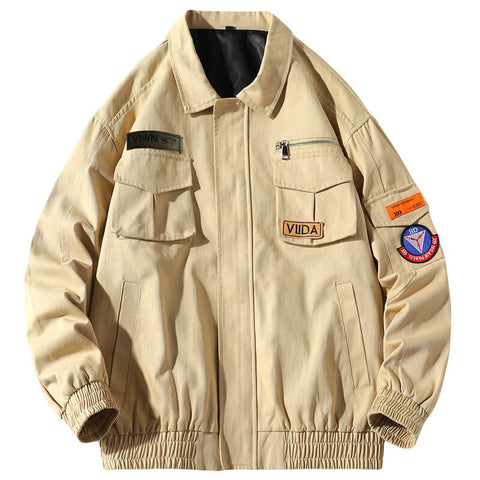 Men's Bomber Jacket Air Force One Loose