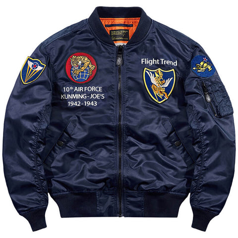 Men's Bomber Jacket MA1 Tigers Embroidery