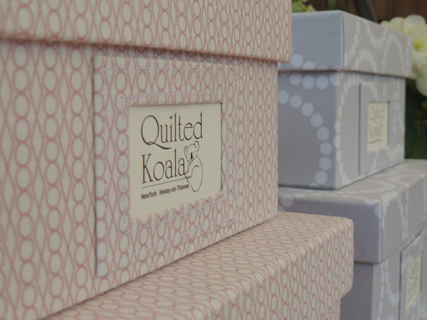 Quilted Koala Pink Jewel and Grey Circle Boxes