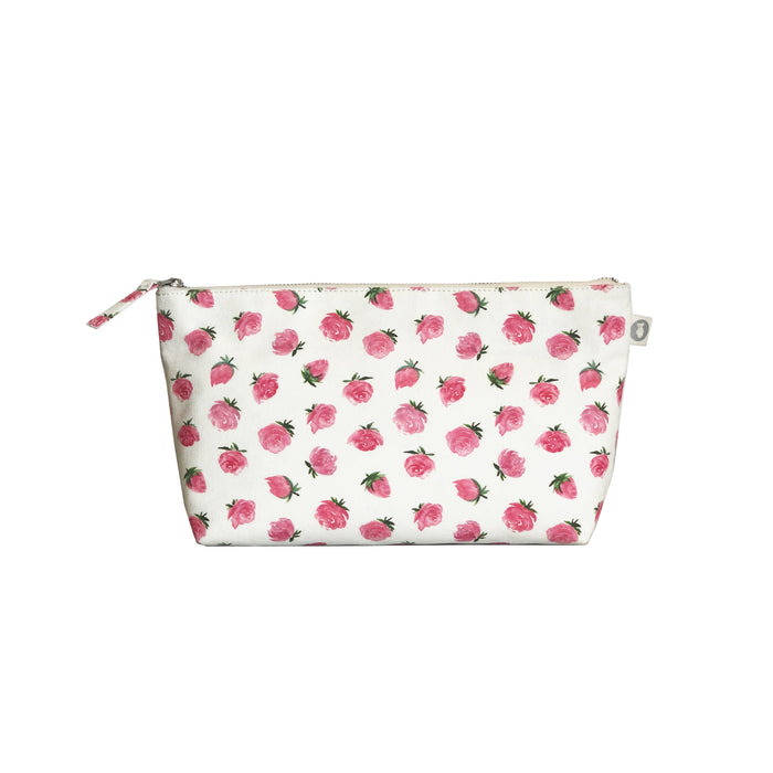 Clutch Bag: White Floral