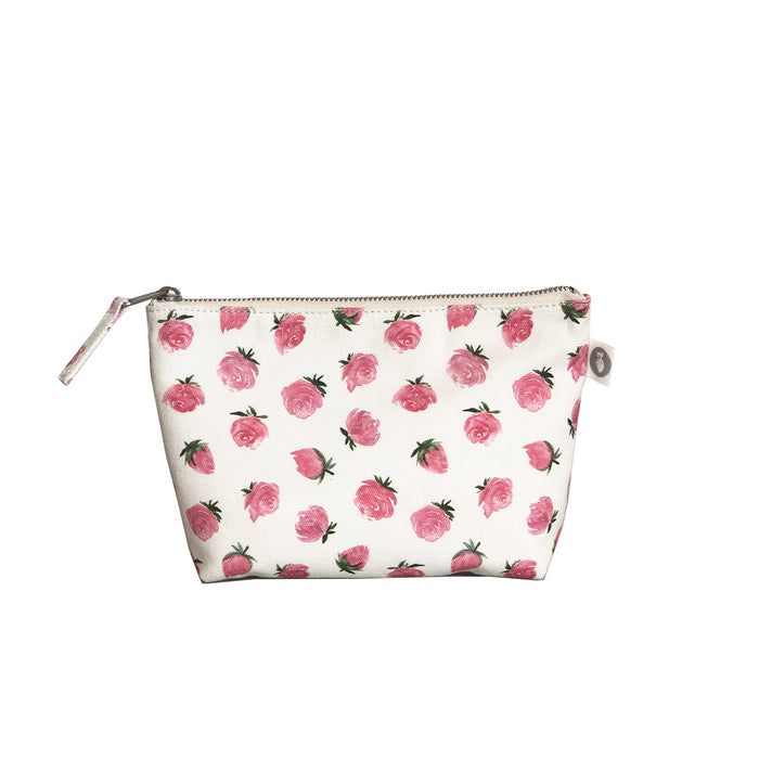 Makeup Bag: White Floral
