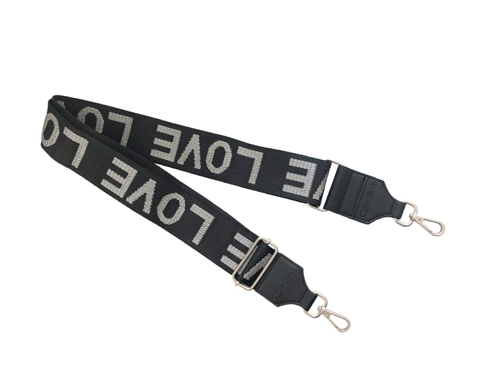 Koala Straps: Black & SIlver Metallic - LOVE
