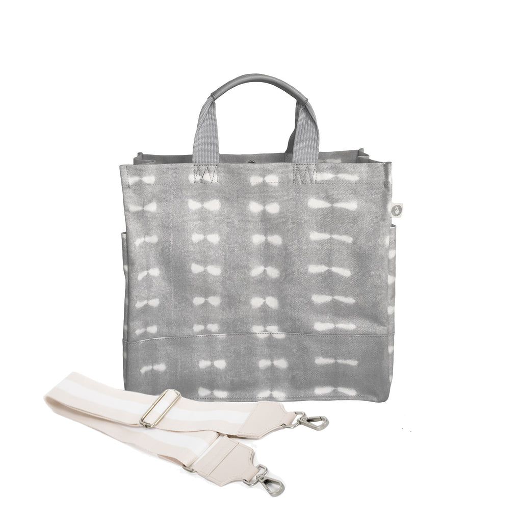 Color Stripes: Luxe North South Grey Shibori