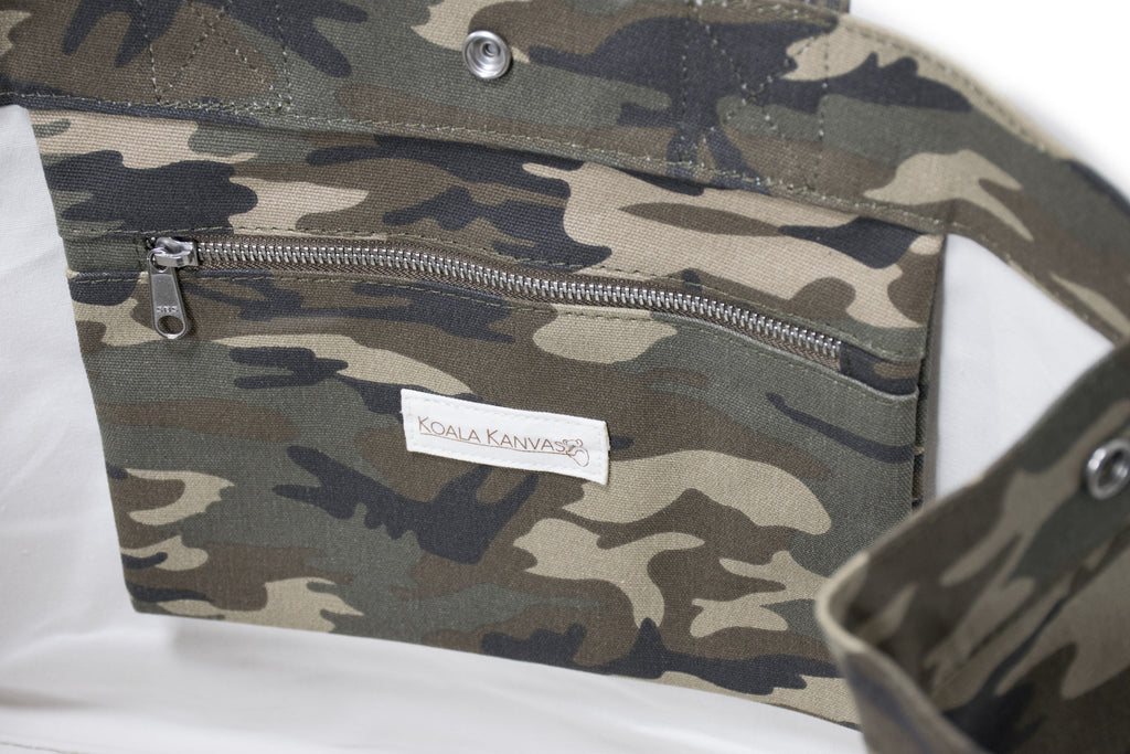 East-West Bag: Green Camouflage