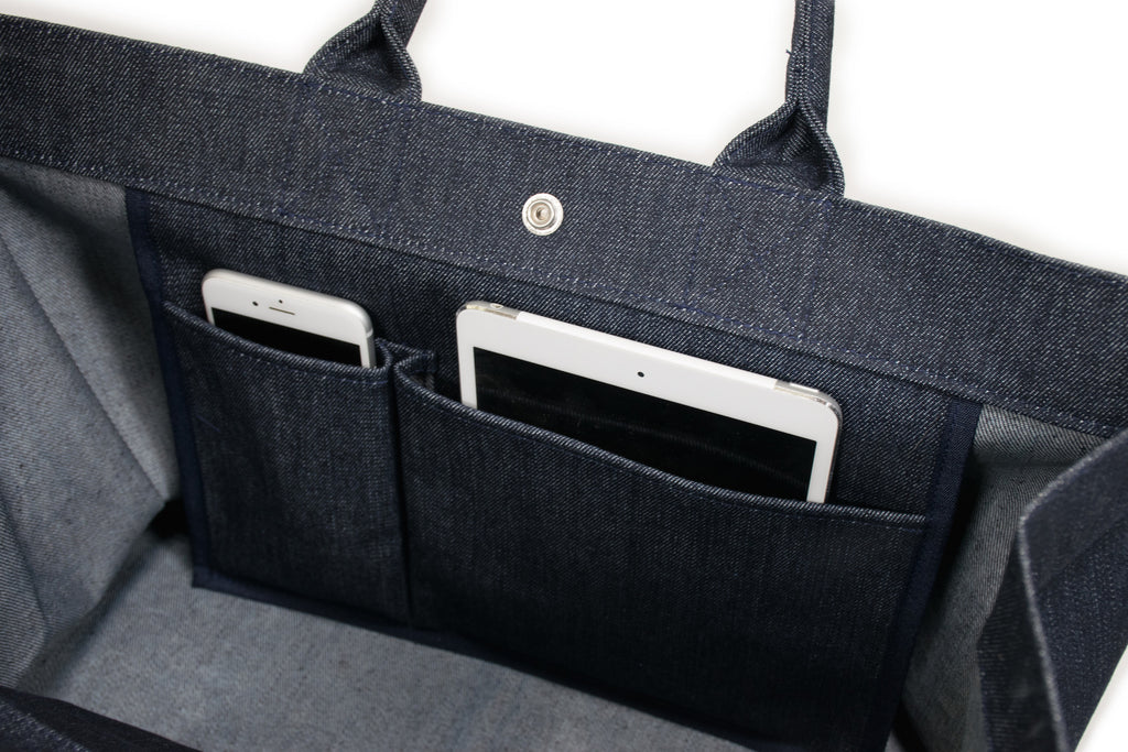 East-West Bag: Denim