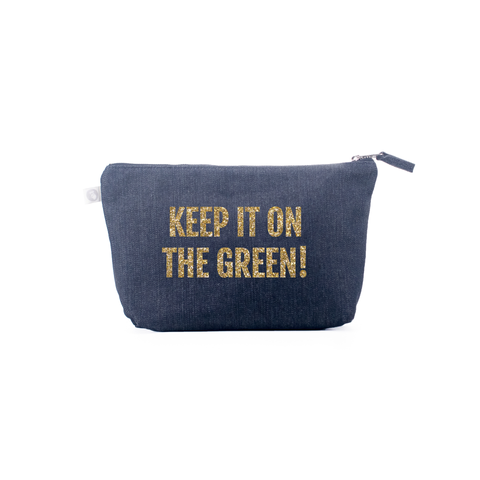 Small Denim Makeup Bag - Golf - Keep It On The Green!