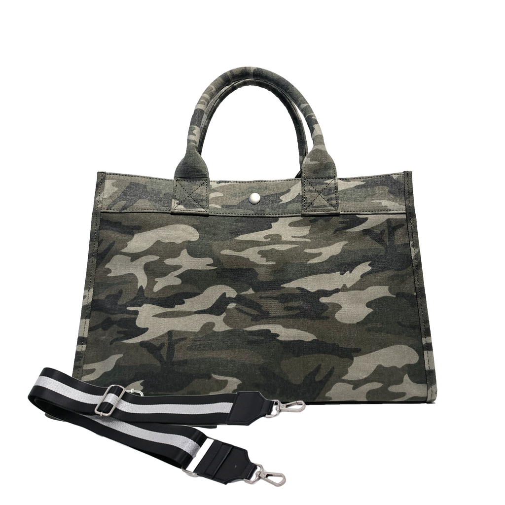 Midi East West Bag: Green Camouflage