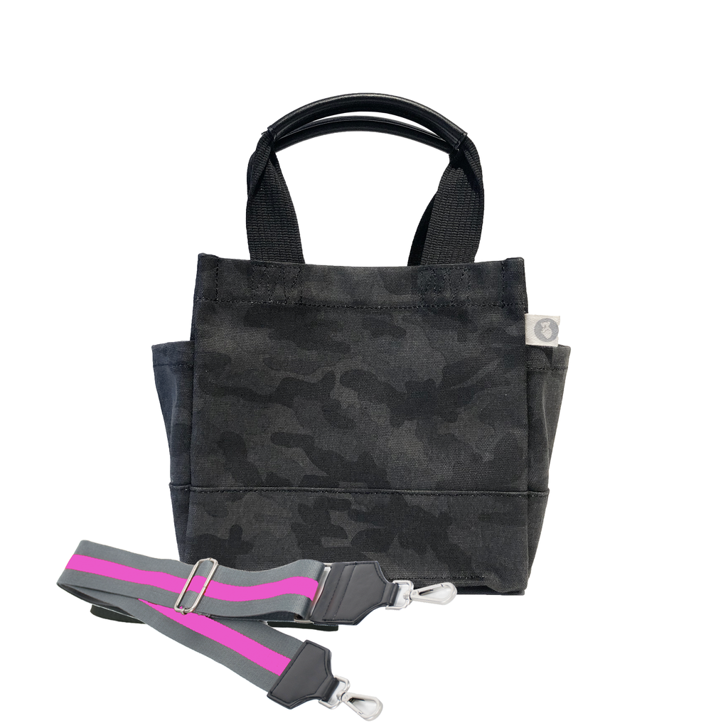 Mini Monogram Mini Luxe North South Bag: Black Camouflage