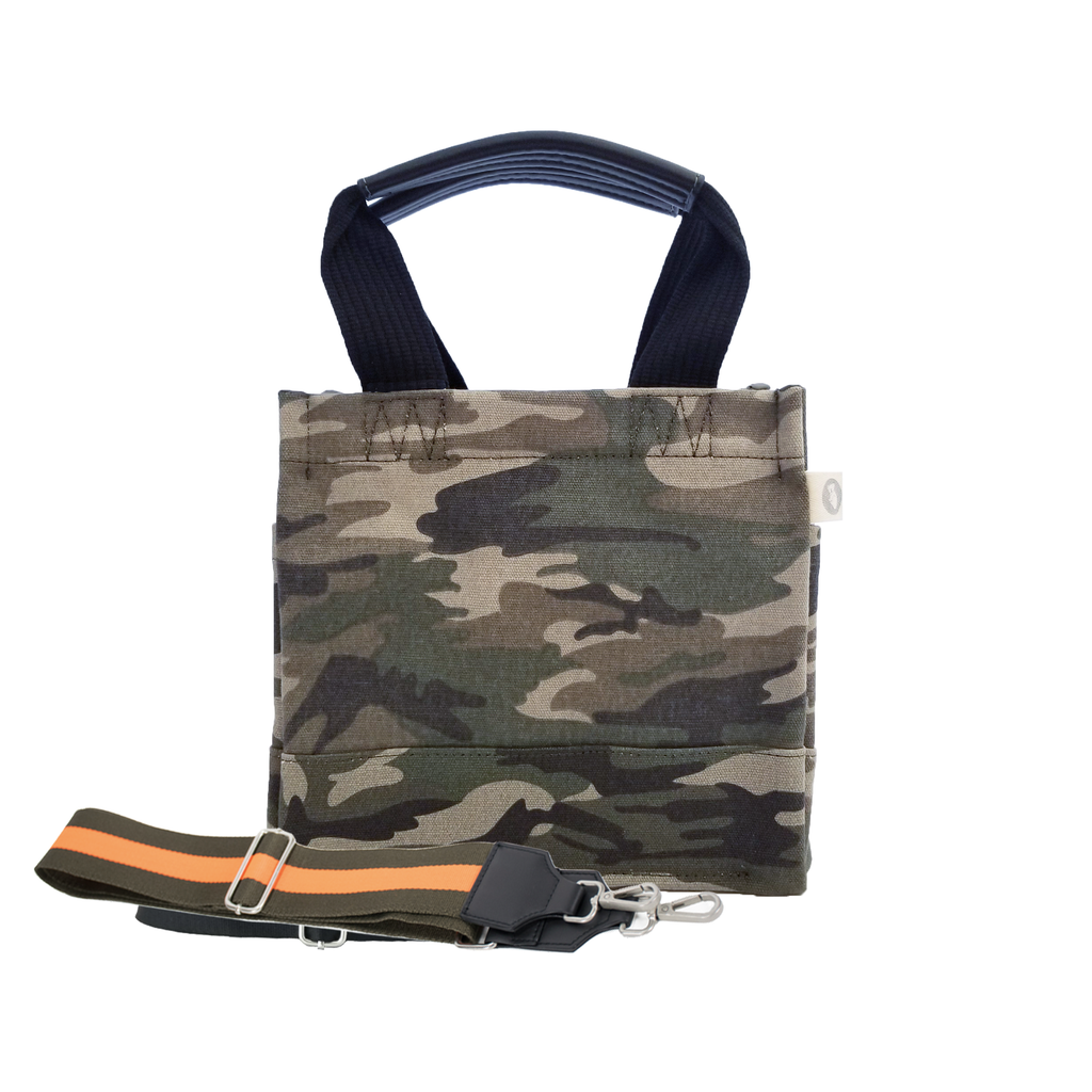 Mini Luxe North South Bag: Green Camouflage