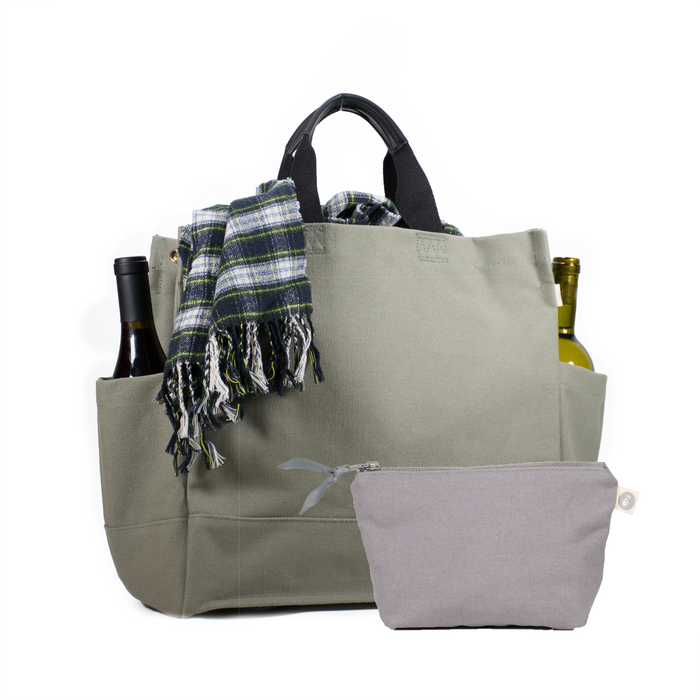 North-South Bag: Olive with Free Grey Makeup Bag Just $50 with code FALL
