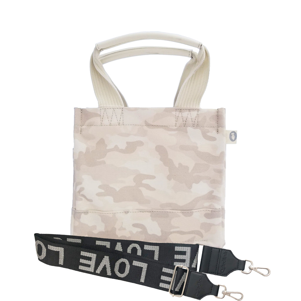 Mini Luxe North South Bag: Blush Camouflage