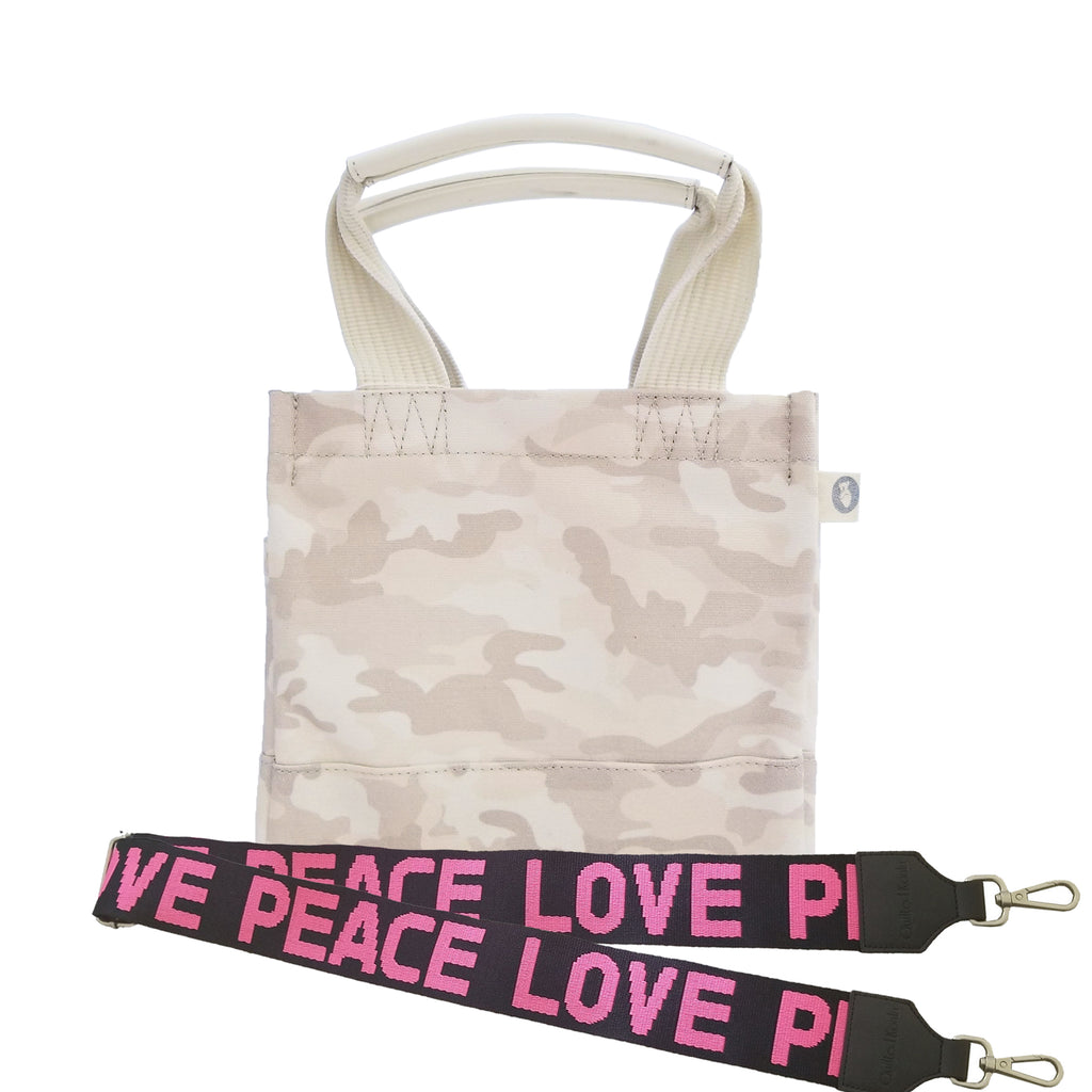 Color Stripes: Mini Luxe North South Bag Blush Camouflage