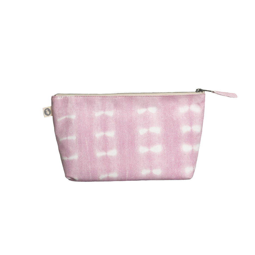 Clutch Bag: Pink Shibori