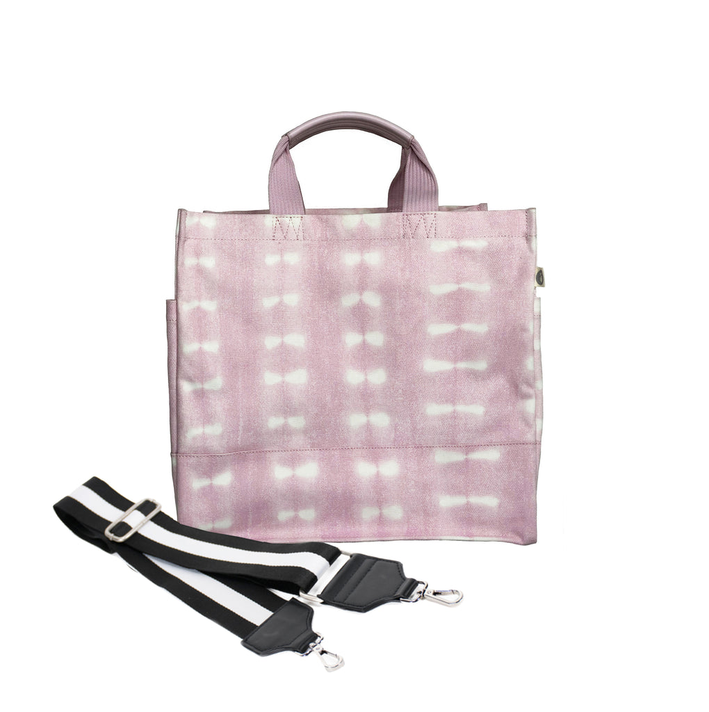 Monogram Stripe: Luxe North South Pink Shibori