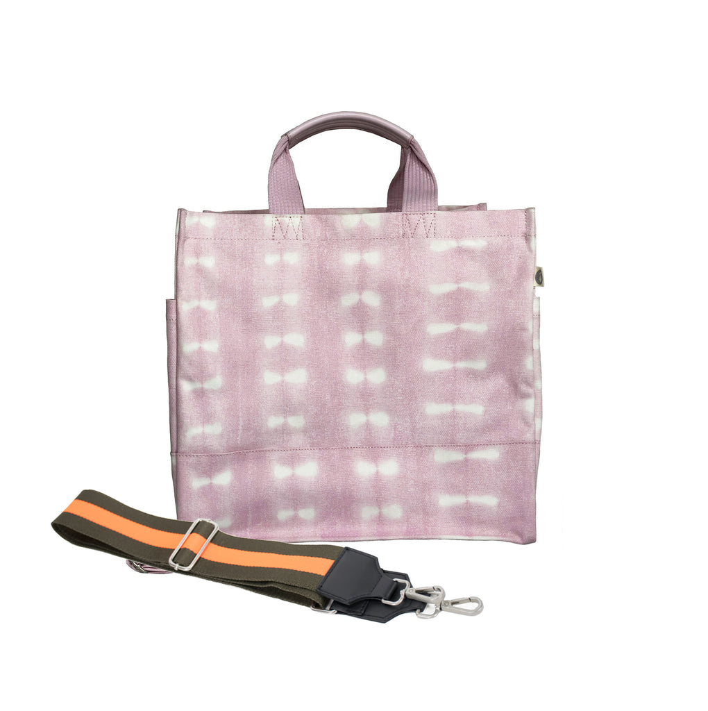 Split Letter Monogram: Luxe North South Pink Shibori
