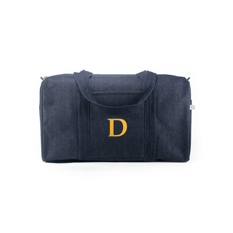 Large Duffel: Denim (Monogram)