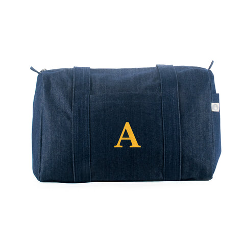 Small Duffel: Denim (Monogram)