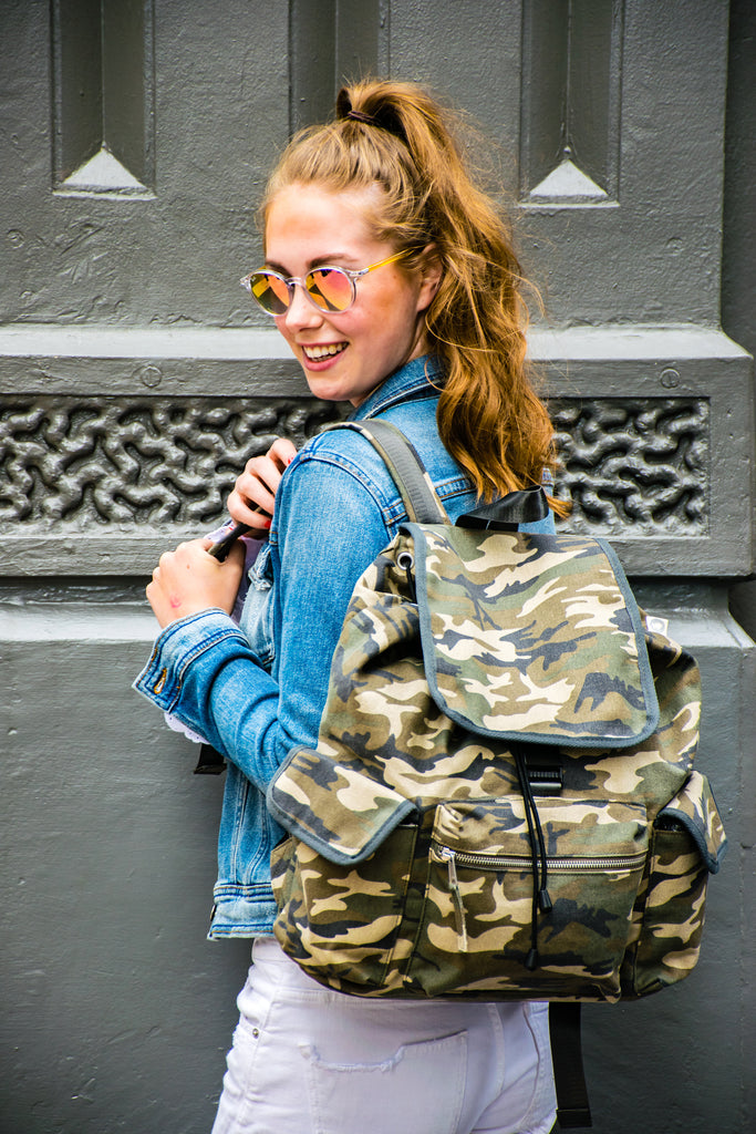 Adult Backpack Camo with Monogram