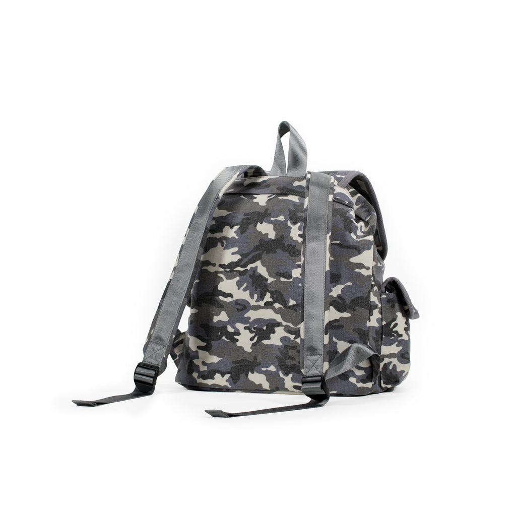 Adult Backpack: Grey Camouflage