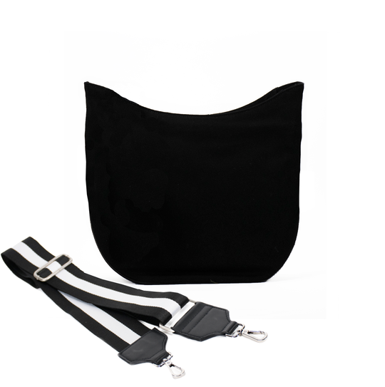 Black Mini City Bag with Black/White Strap Only $67 + FREE Strap ($174 value for only $67 with code: MINI67)