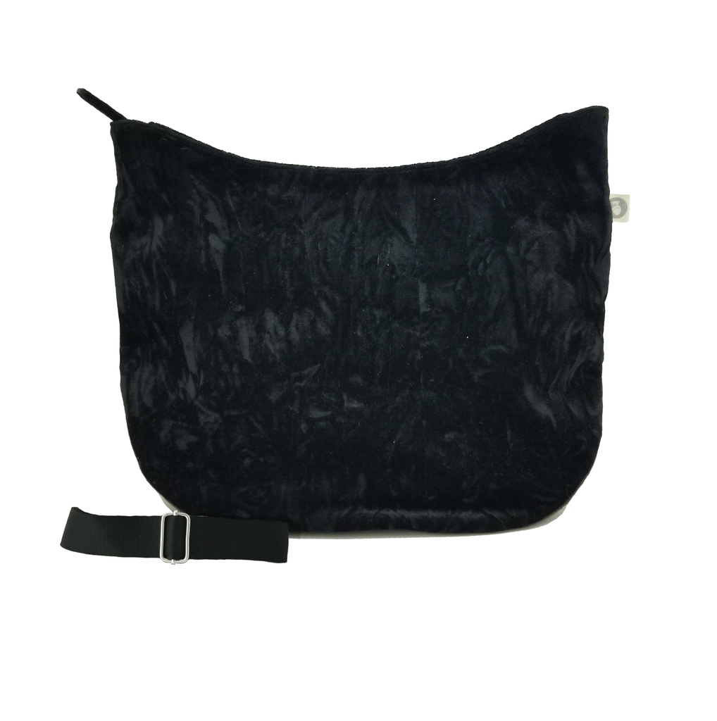 City Bag Basics: Black Crushed Velvet