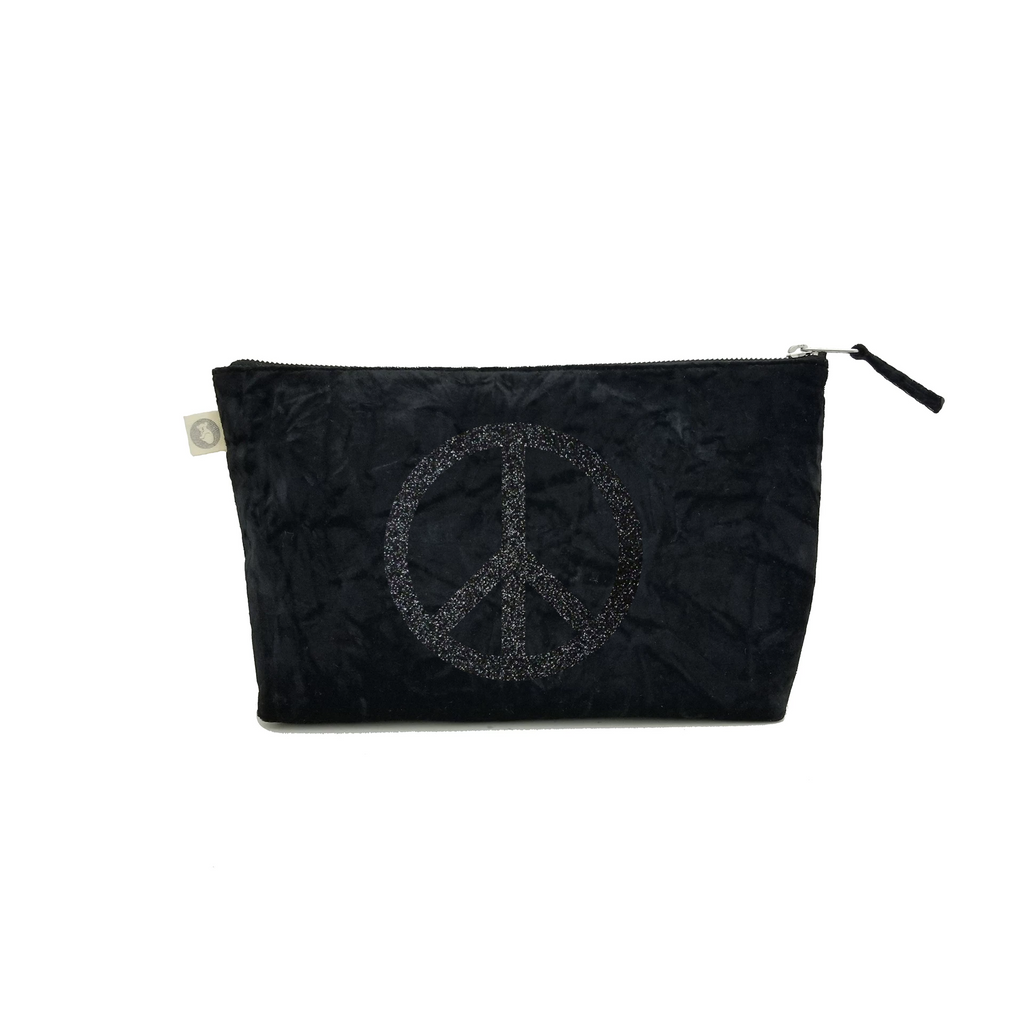 Clutch Bag: Black Crushed Velvet