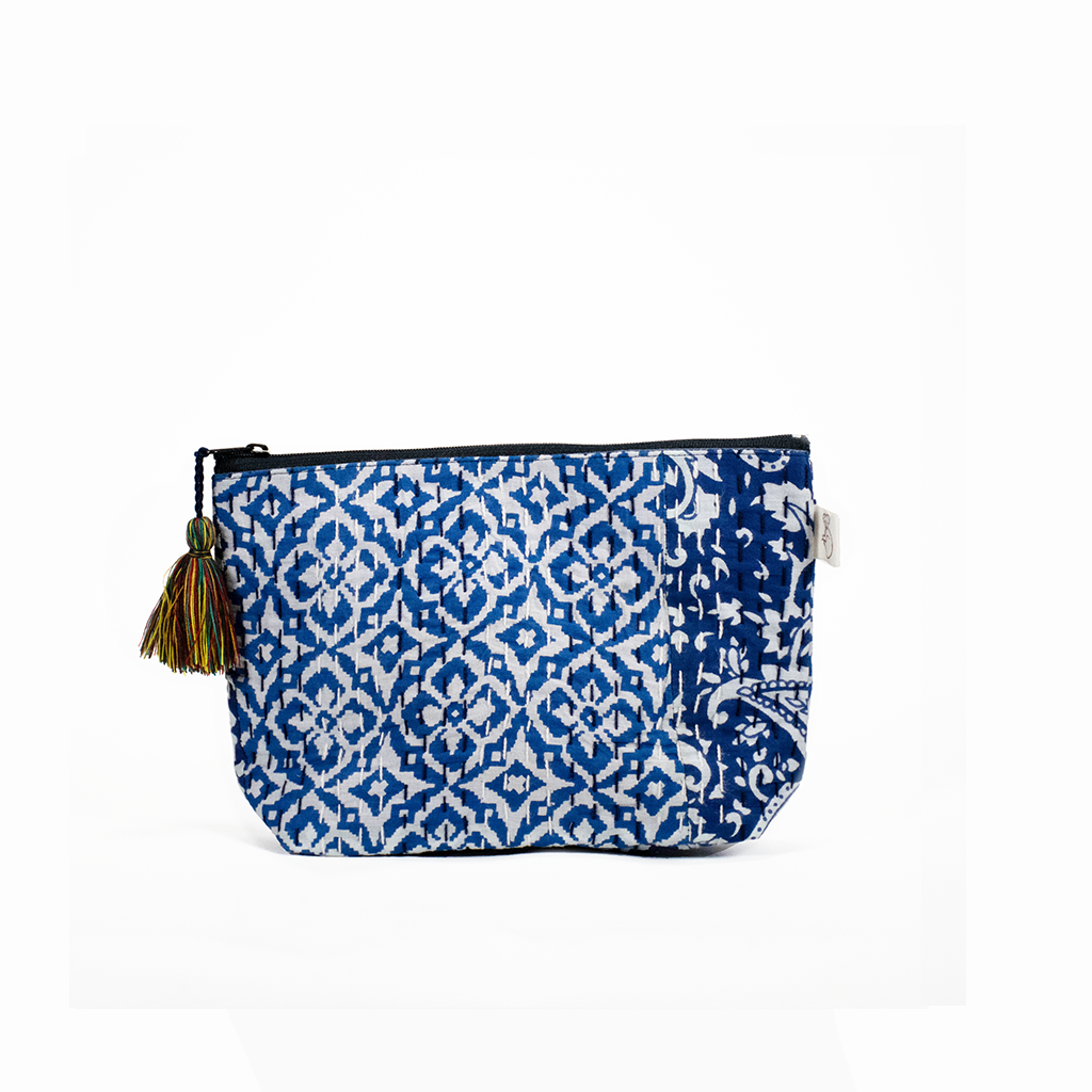 Koala Boho Collection: Makeup Bag in Blue Tones