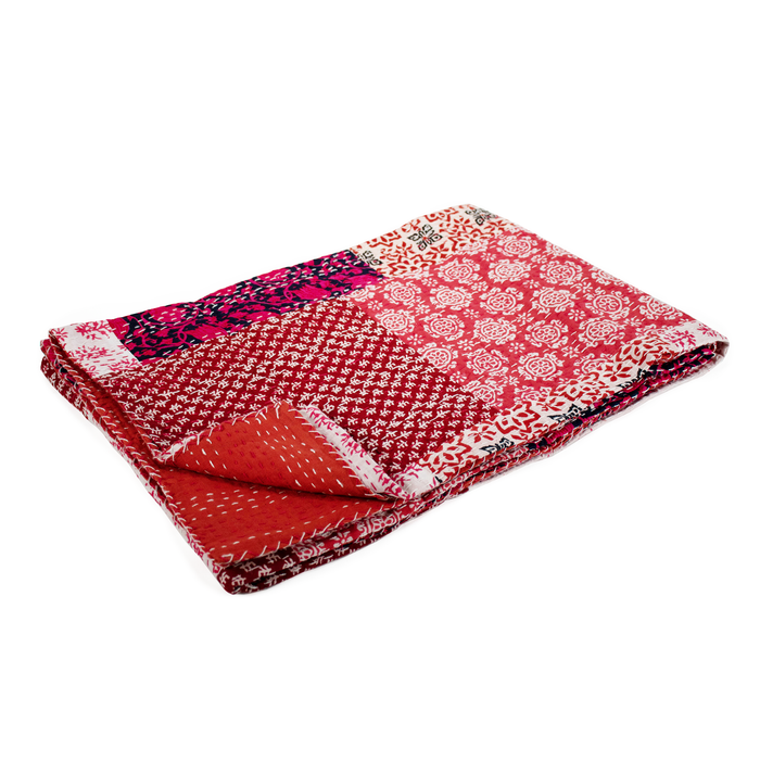 Koala Boho Throw  PINK/RED Tones
