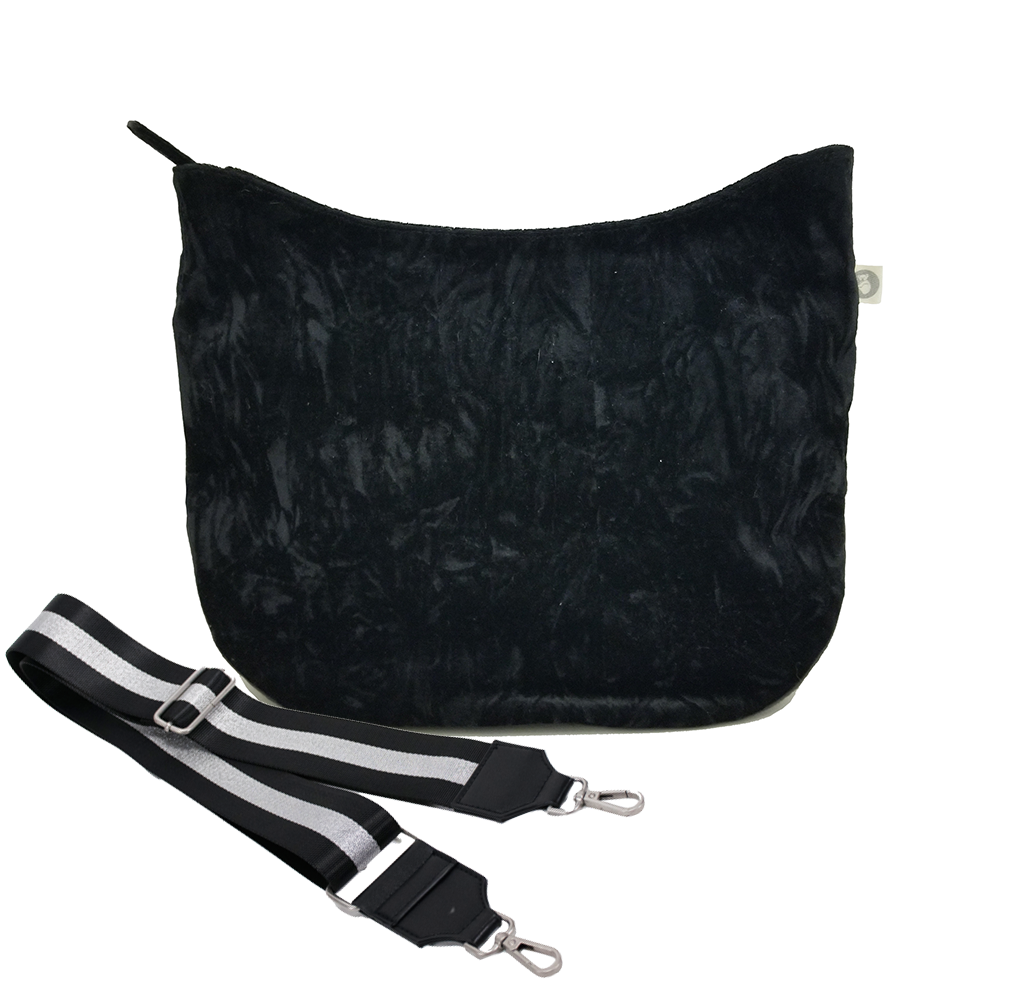Color Stripe Collection: City Bag Black Velvet