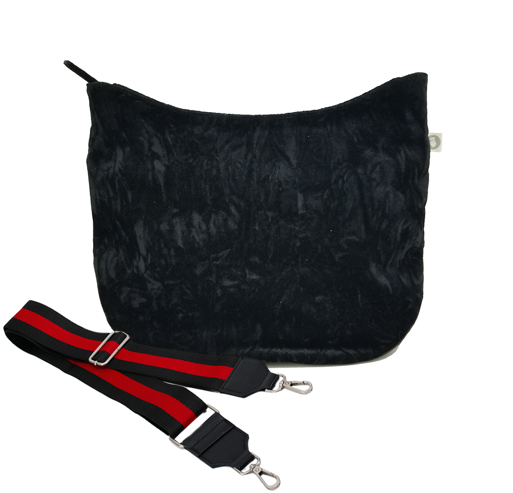 City Bag: Black Velvet
