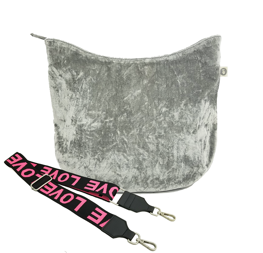Mini Monogram City Bag: Grey Velvet