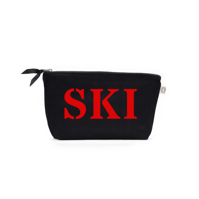 SKI Collection: Clutch Bag Black with Red Matte SKI