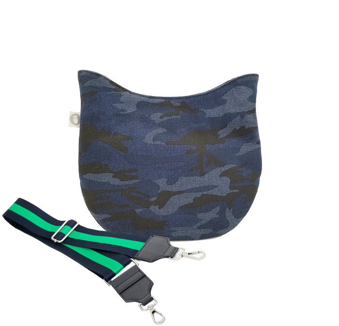 Mini City Bag: Dark Blue Camouflage