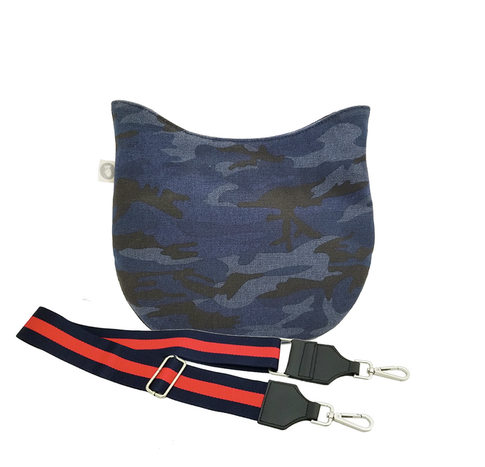 Dark Blue Camo Mini City Bag with Navy/Red Strap Only $67 + FREE Strap ($174 value for only $67 with code: MINI67)