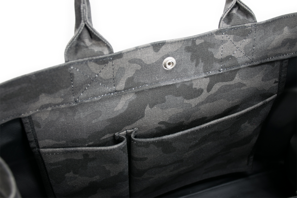 East West Bag: Black Camouflage - Back in Stock!