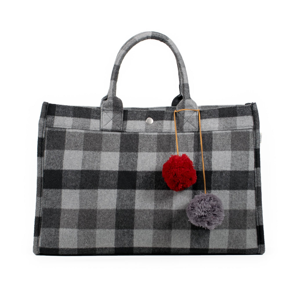 East West Bag: Grey Flannel Plaid    JUST $88 with code GLAM