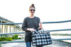 East West Bag: Grey Flannel Plaid - FLASH SALE  Free Makeup Bag today!