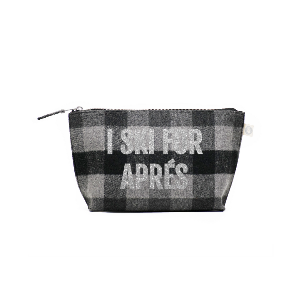 aec63497ad SKI Collection  Clutch Bag Grey Plaid Flannel with Silver I Ski for Ap –  Quilted Koala