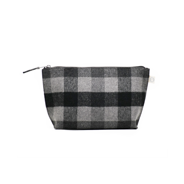 Clutch Bag: Grey Plaid Flannel