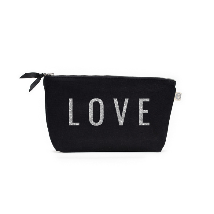 LOVE Collection: Clutch Bag Black with Silver LOVE