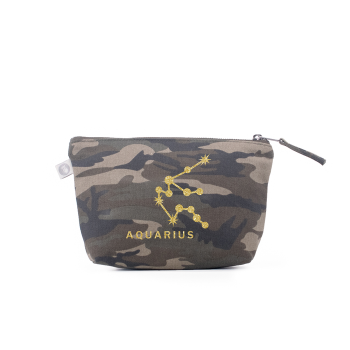 Zodiac Sign: Makeup Bag  - Aquarius