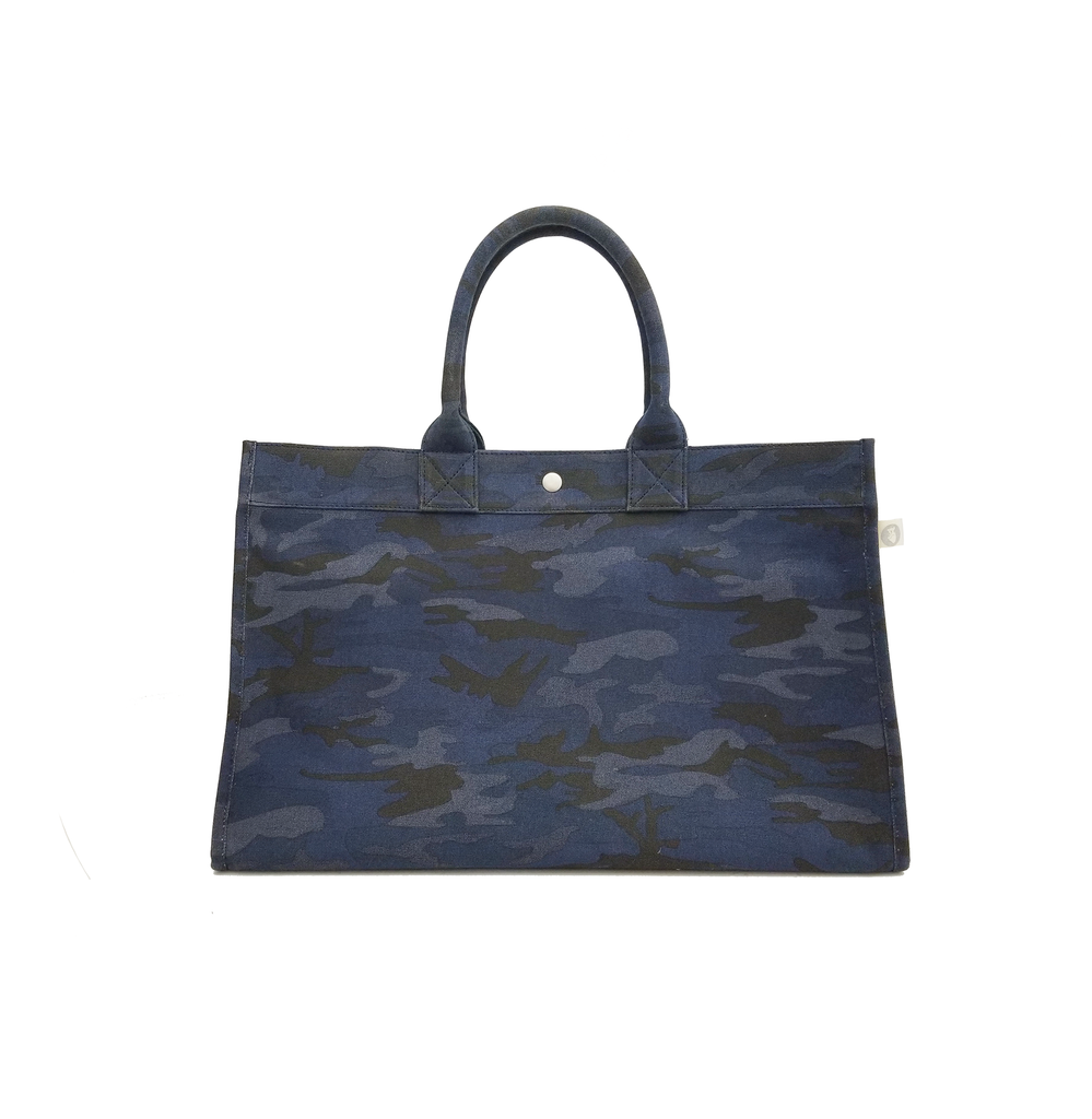 East West Bag: Dark Blue Camouflage