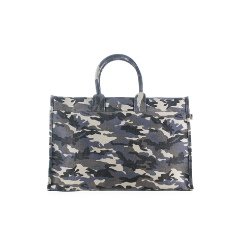 East-West Bag: Grey Camouflage